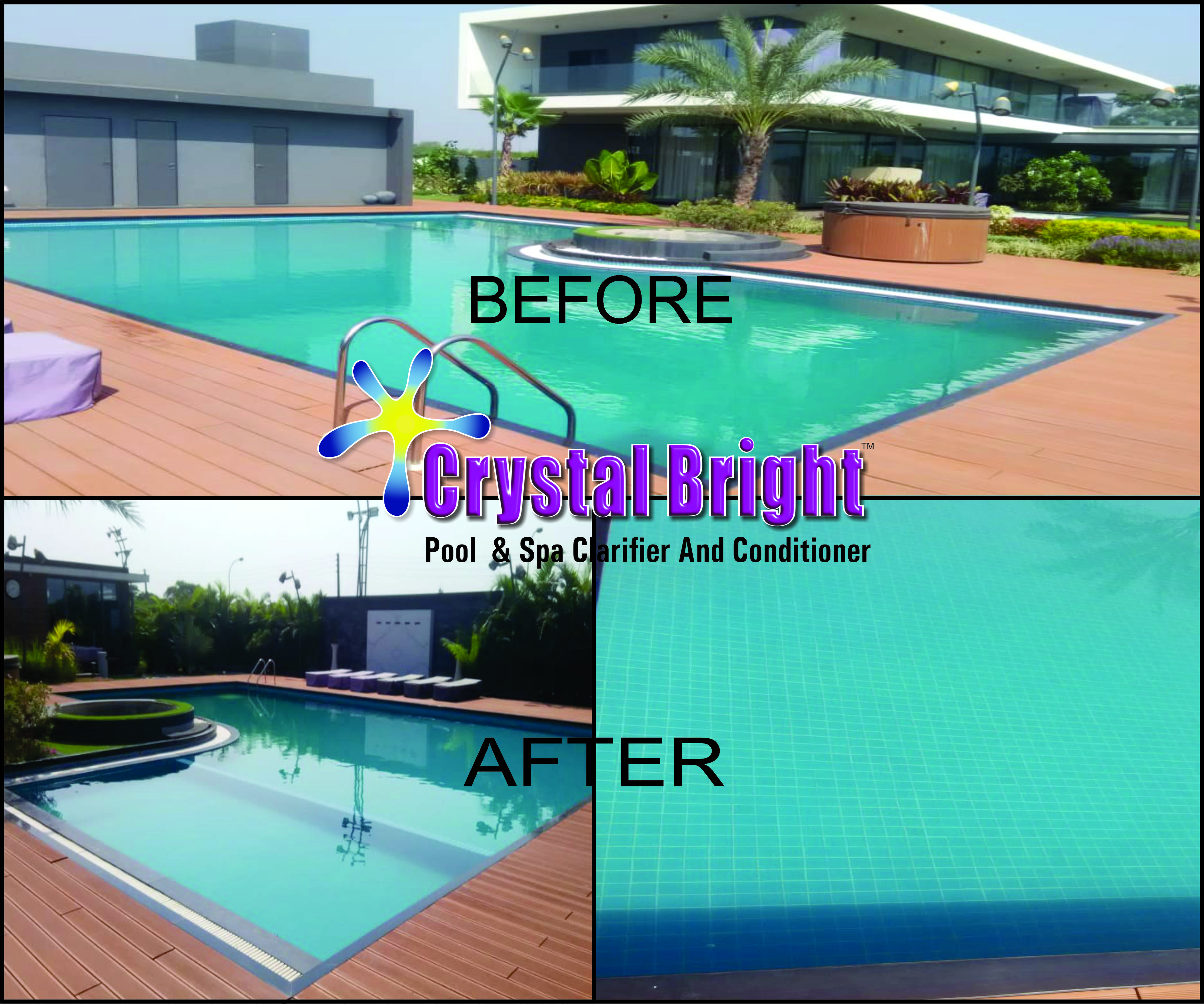 Pool Clarifier - CRYSTAL BRIGHT, Best swimming pool Cleaning ...
